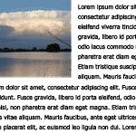 Пространство между изображением и текстом - хорошо