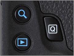 Кнопки Q, увеличение и воспроизведение