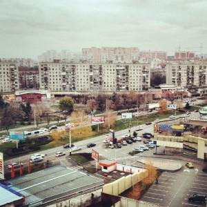 Вид из окна офиса на Фестивальный район, Краснорад