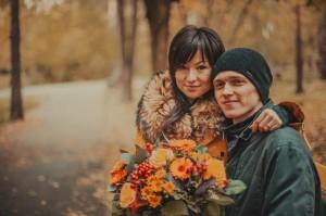 Я и Катя, осень 2013. Екатеринбург, зеленая роща