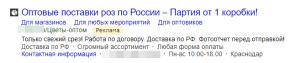 Для поиска мы составили такие тексты (Яндекс Директ)