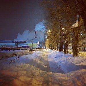 Город Томск зимой