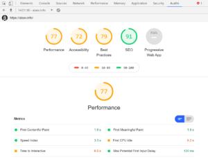 Оценка скорости сайта в Хроме с помощью DevTools