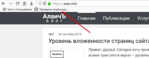 Теперь можно открыть проверяемый сайт и использовать букмарклет