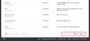 Скачать файл со списком всех страниц сайта в индексе Яндекса