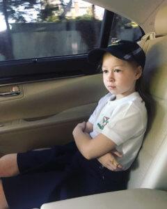 Маргарита едет в гимназию