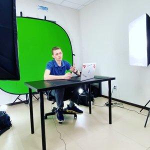 Студия, где мы записываем ролики на Ютуб
