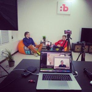 Записываем интервью с Костиком