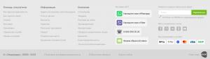Футер сайта eldorado.ru с блоками «Помощь покупателю»