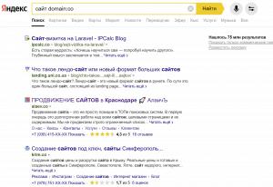 Оператор позволяет искать по сайтам, расположенным в определенной доменной зоне