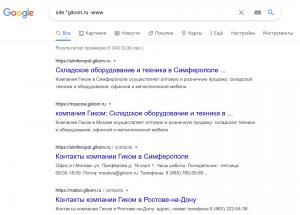 Проверка поддоменов и числа их страниц в индексе Google