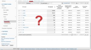 Статистика переходов с поисковых систем в Google Analytics