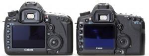 Сравнение Canon EOS 5D mark III и 5D mark II сзади