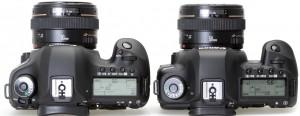Сравнение Canon EOS 5D mark III и 5D mark II сверху