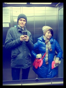 Я и Катя, 23 февраля 2013. Екатеринбург