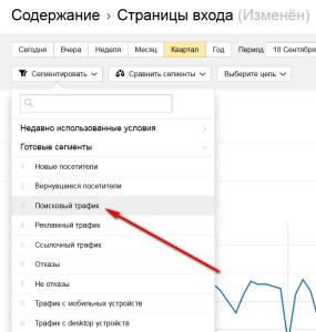 Сегментирование по поисковому трафику в Яндекс Метрике 2.0