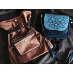 Рюкзак и сумка из замши