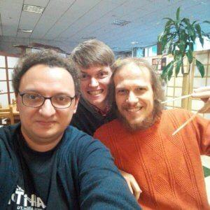 Вася Ткачев, Я, Серега Кокшаров на All in Top