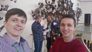 Я и Руслан. Николай берет интервью у Деваки для seopult.tv