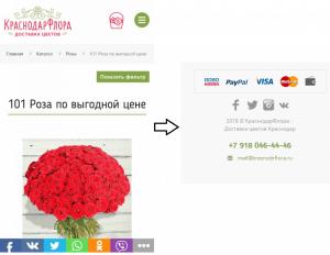 Перенос значков с соц. сетями в футер